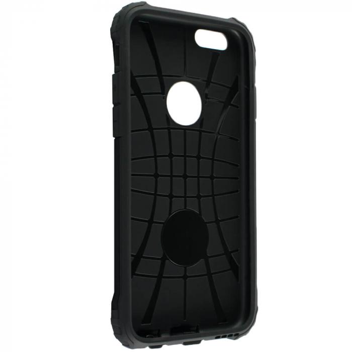Husa iPhone 6 Plus / 6s Plus Silicon Antisoc Negru Hybrid Armor [2]