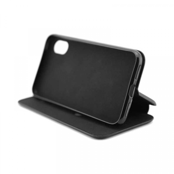Husa iPhone 6 Plus Tip Carte Flip Cover din Piele Ecologica Neagra Portofel cu Inchidere Magnetica (Black) 2