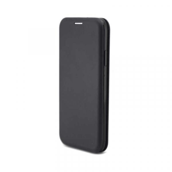 Husa iPhone 6 Plus Tip Carte Flip Cover din Piele Ecologica Neagra Portofel cu Inchidere Magnetica (Black) 3
