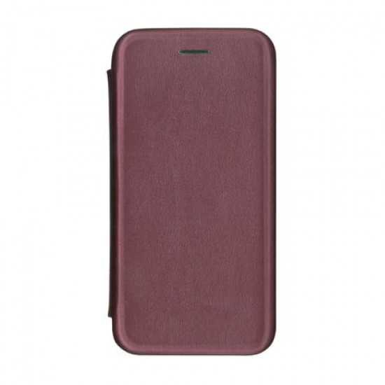 Husa iPhone 6 Plus Tip Carte Flip Cover din Piele Ecologica Portofel Mov cu Inchidere Magnetica (Purple) 0