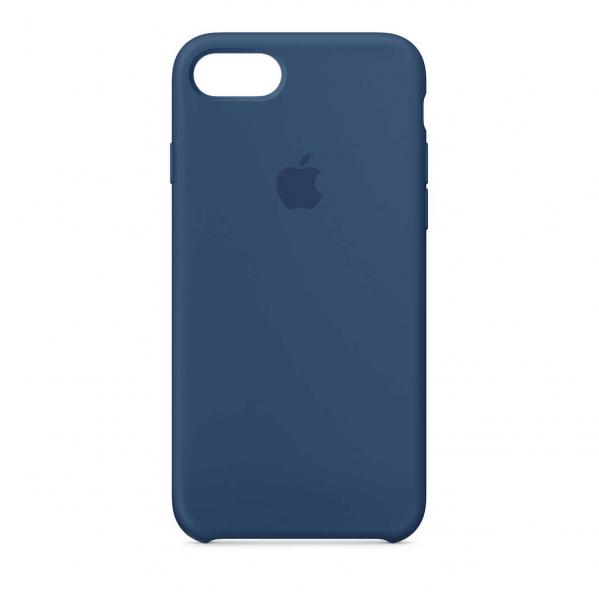 Husa iPhone 7 / 8 Albastru Carcasa Silicon Premium Slim Logo 0