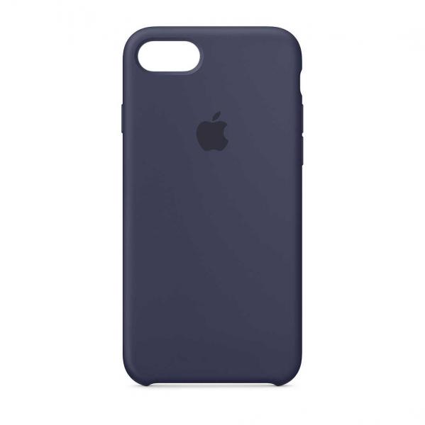 Husa iPhone 7 / 8 Bleumarin Carcasa Silicon Premium Slim Logo 0