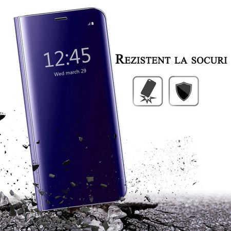 Husa iPhone 7 / 8 Clear View Flip Standing Cover (Oglinda) Mov (Purple) 4