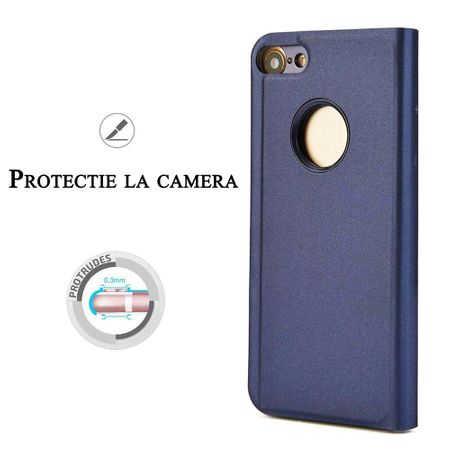 Husa iPhone 7 / 8 Clear View Flip Standing Cover (Oglinda) Mov (Purple) 1