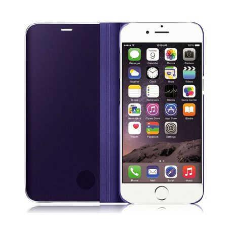 Husa iPhone 7 / 8 Clear View Flip Standing Cover (Oglinda) Mov (Purple) 2