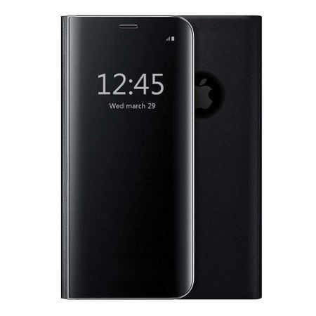 Husa iPhone 7 / 8 Clear View Flip Standing Cover (Oglinda) Negru (Black) 0