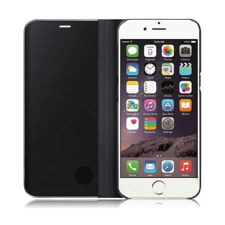 Husa iPhone 7 / 8 Clear View Flip Standing Cover (Oglinda) Negru (Black) 4