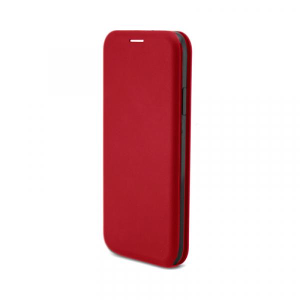Husa iPhone 7 / 8 Rosu Tip Carte Flip Cover din Piele Ecologica Portofel cu Inchidere Magnetica 1