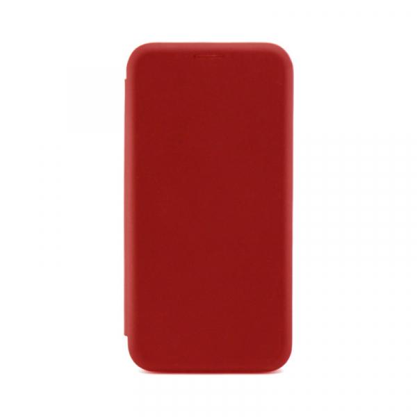 Husa iPhone 7 / 8 Rosu Tip Carte Flip Cover din Piele Ecologica Portofel cu Inchidere Magnetica 0