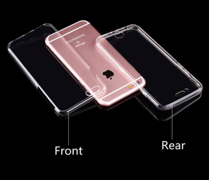 Husa iPhone 7 Full Cover 360 Grade Transparenta 2