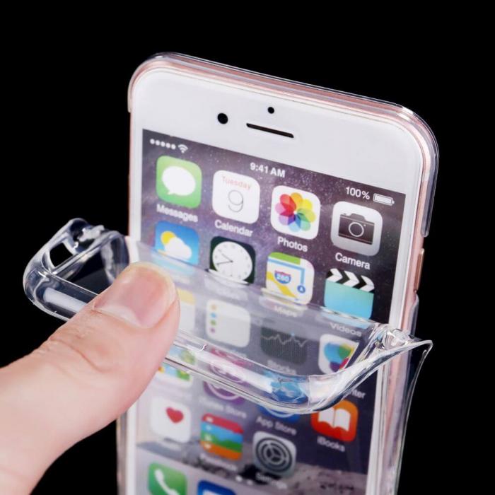 Husa iPhone 7 Full Cover 360 Grade Transparenta 1