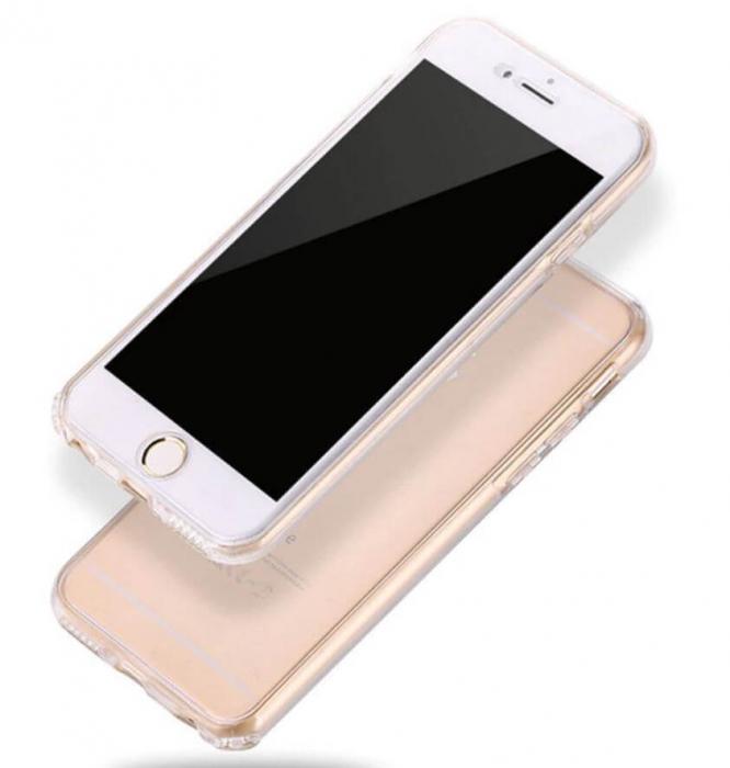 Husa iPhone 7 Full Cover 360 Grade Transparenta 3