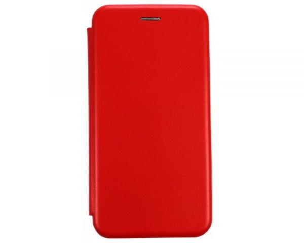 Husa iPhone  7/ iPhone 8 Plus Tip Carte Flip Cover din Piele Ecologica Portofel Rosu cu Inchidere Magnetica (Red) 0