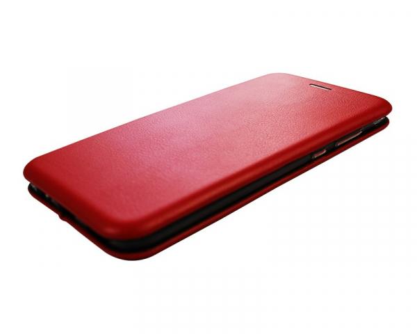 Husa iPhone  7/ iPhone 8 Plus Tip Carte Flip Cover din Piele Ecologica Portofel Rosu cu Inchidere Magnetica (Red) 1