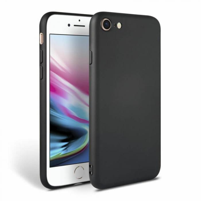 Husa iPhone 7 Negru Silicon Slim protectie Premium Carcasa 0