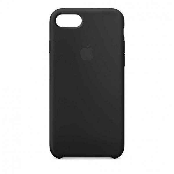 Husa iPhone 7 Plus / 8 Plus Negru Carcasa Silicon Premium Slim Logo 0