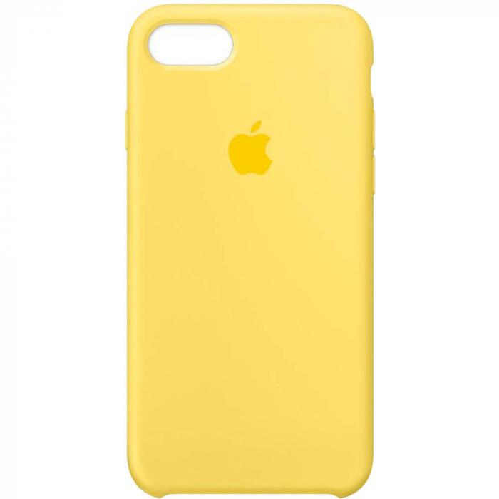 Husa iPhone 7 Plus Galben Carcasa Silicon Premium Slim Logo 0