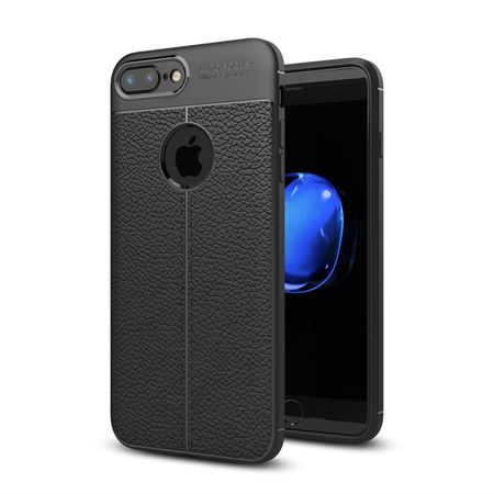 Husa iPhone 7 Plus Silicon TPU Colorat Negru-Autofocus Black 0