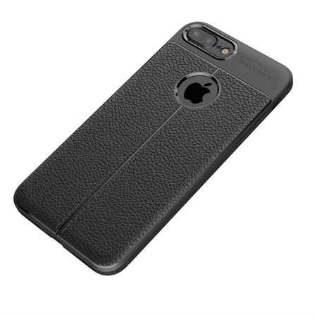 Husa iPhone 7 Plus Silicon TPU Colorat Negru-Autofocus Black 1