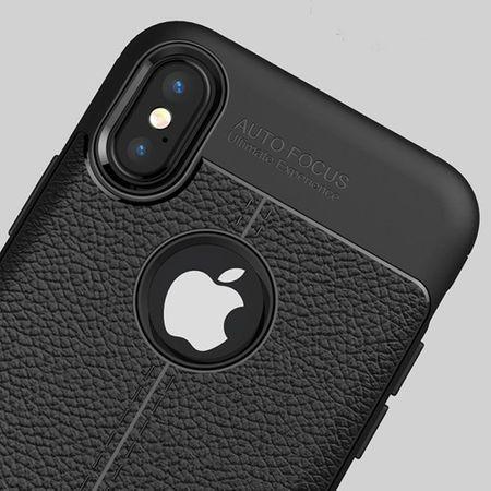 Husa iPhone X Silicon TPU Colorat Negru-Autofocus Black 1