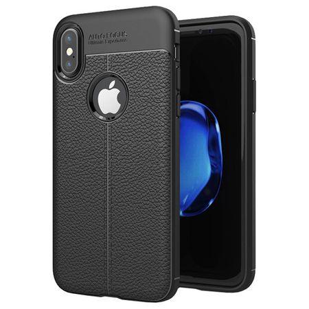 Husa iPhone X Silicon TPU Colorat Negru-Autofocus Black 0