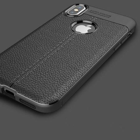 Husa iPhone X Silicon TPU Colorat Negru-Autofocus Black 3