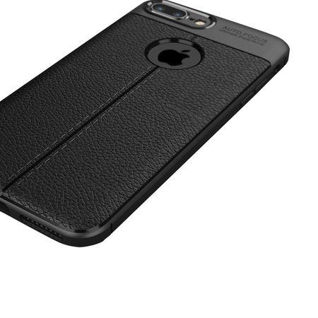 Husa iPhone 7 Plus Silicon TPU Colorat Negru-Autofocus Black 2