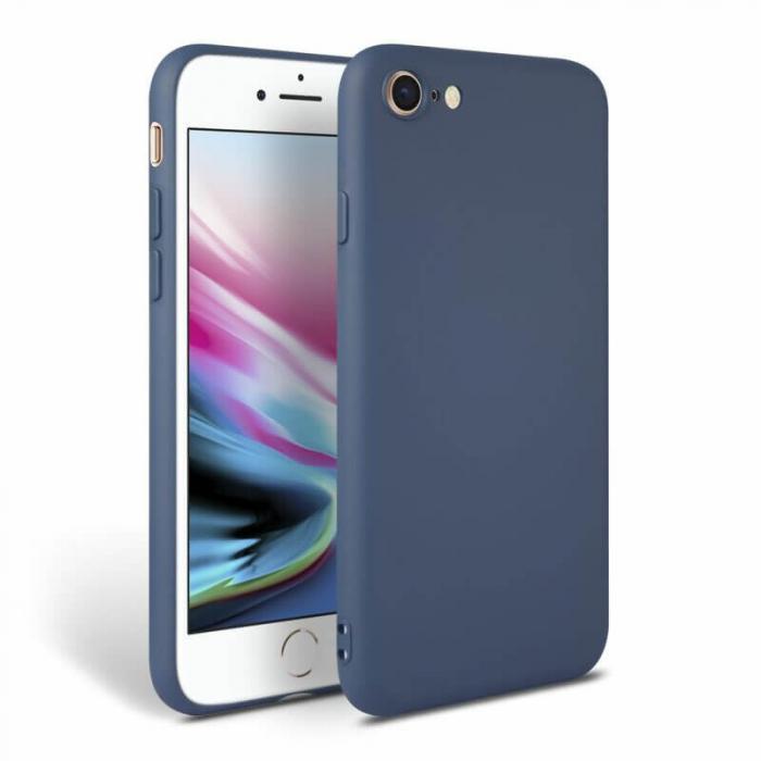 Husa iPhone 8 Bleumarin Silicon Slim protectie Premium Carcasa [0]
