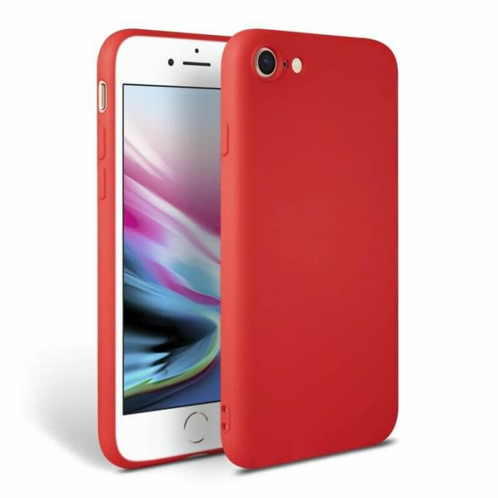 Husa iPhone 8 Rosu Silicon Slim protectie Premium Carcasa 0
