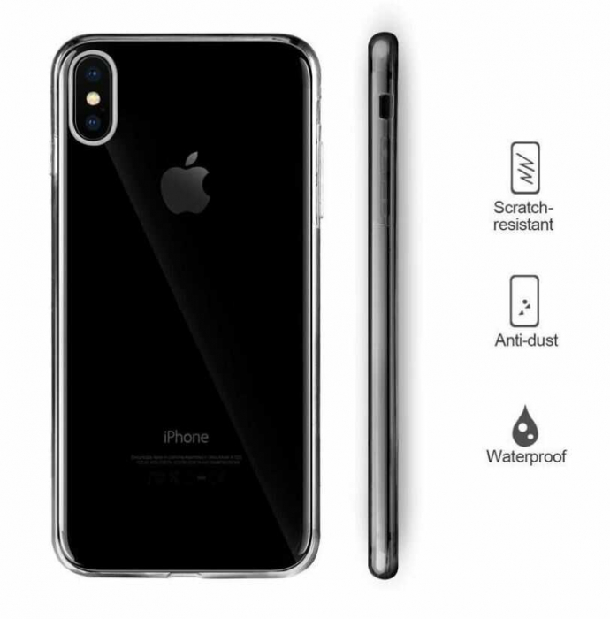 Husa iPhone X Full Cover 360 Grade Transparenta 3