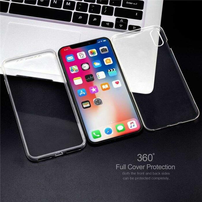Husa iPhone X Full Cover 360 Grade Transparenta 1