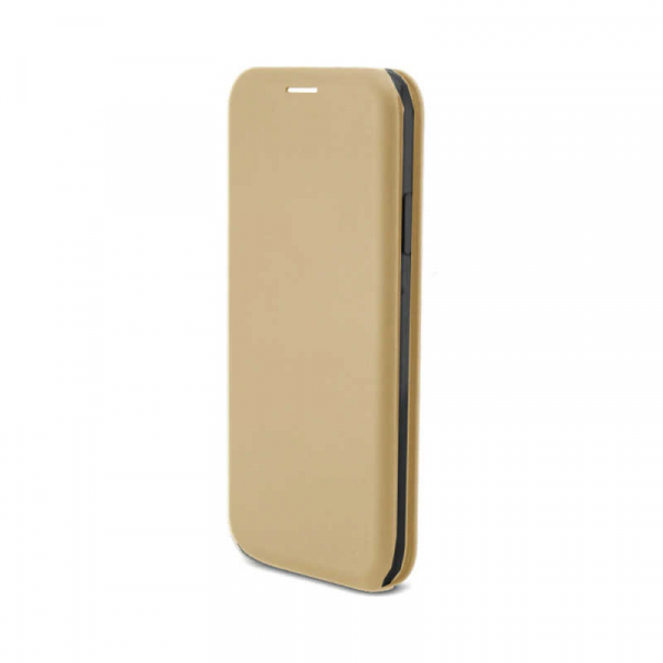 Husa iPhone X  / iPhone XS Tip Carte Flip Cover din Piele Ecologica Gold 1