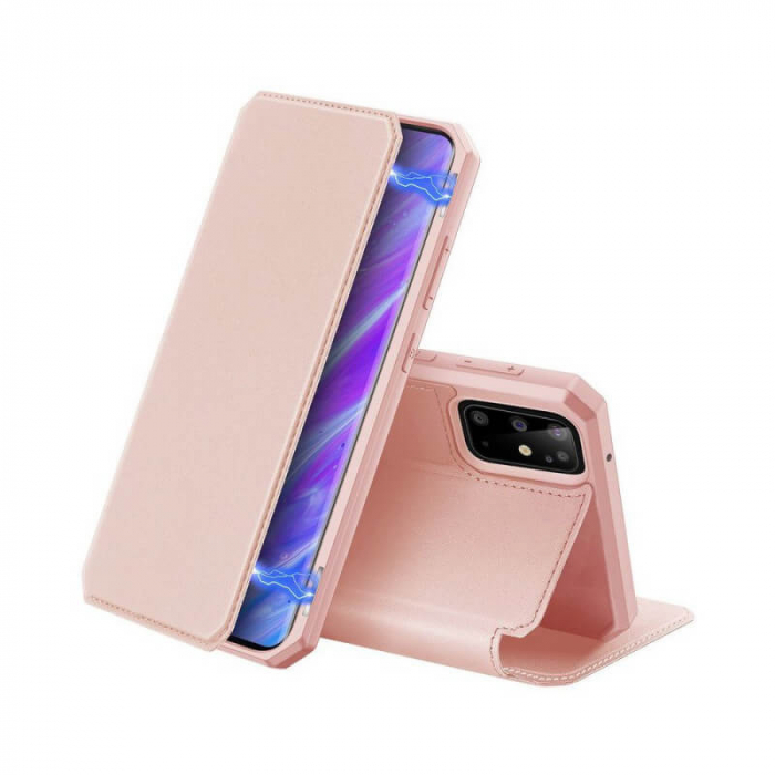 Husa iPhone X Toc Flip Tip Carte Portofel Roz Piele Eco X-Skin 0