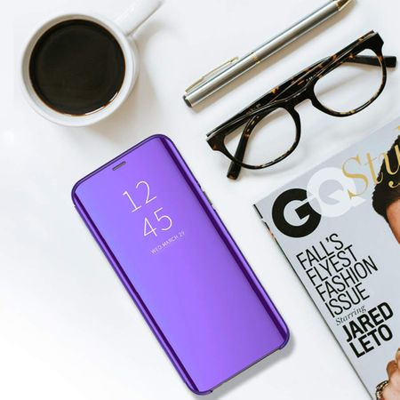 Husa iPhone Xr / iPhone 9 Clear View Flip Standing Cover (Oglinda) Mov (Purple)