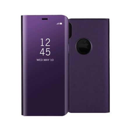Husa iPhone X / XS  Clear View Flip Standing Cover (Oglinda) Mov (Purple) [0]