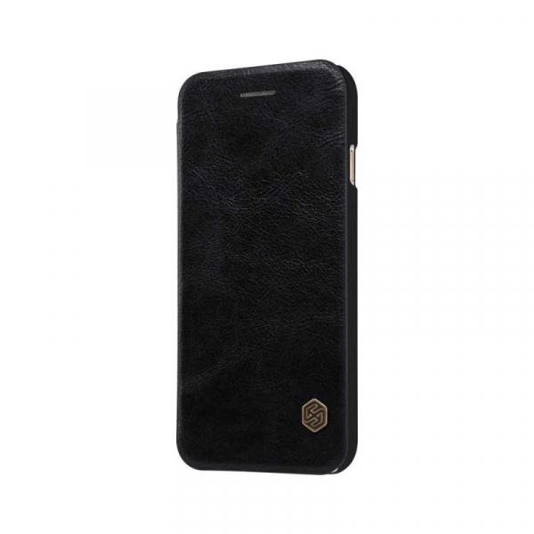 Husa iPhone X XS Negru Toc Flip Nillkin Qin Piele Eco Premium Tip Carte Portofel 4