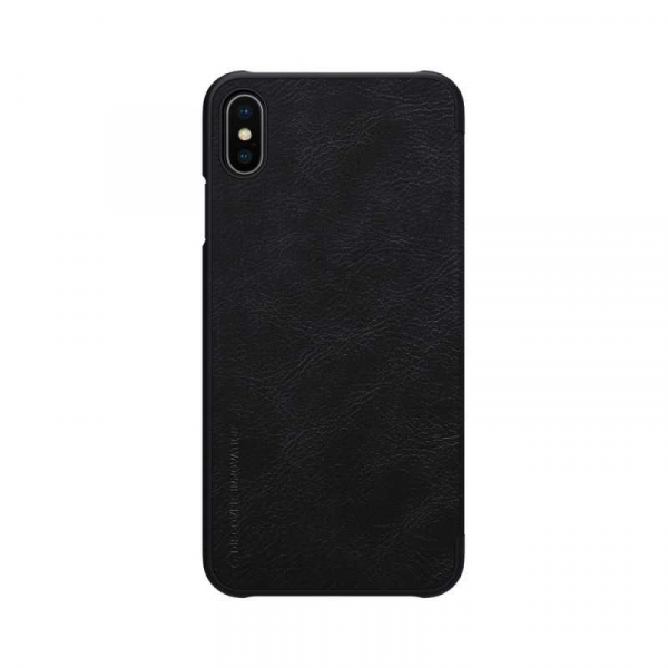 Husa iPhone X XS Negru Toc Flip Nillkin Qin Piele Eco Premium Tip Carte Portofel 1