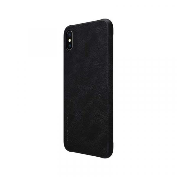 Husa iPhone X XS Negru Toc Flip Nillkin Qin Piele Eco Premium Tip Carte Portofel 5