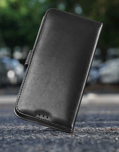 Husa iPhone X XS Toc Flip Tip Carte Portofel Negru Piele Eco Premium DuxDucis Kado [5]