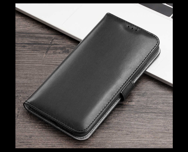 Husa iPhone X XS Toc Flip Tip Carte Portofel Negru Piele Eco Premium DuxDucis Kado [6]