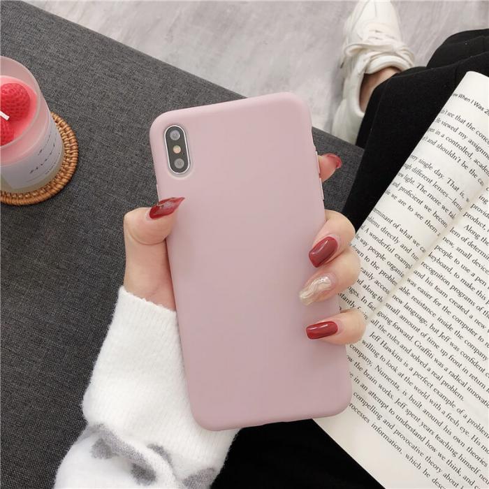 Husa iPhone XR Roz Silicon Slim protectie Premium Carcasa 2