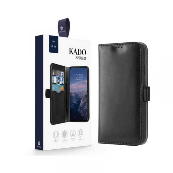 Husa iPhone XR Toc Flip Tip Carte Portofel Negru Piele Eco Premium DuxDucis Kado 7