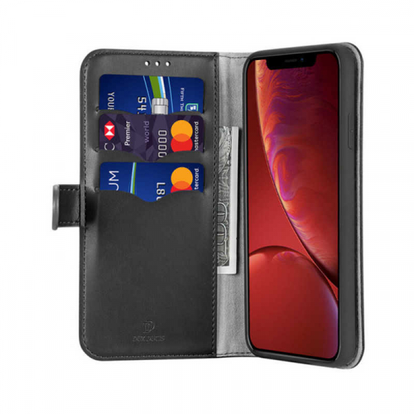 Husa iPhone XR Toc Flip Tip Carte Portofel Negru Piele Eco Premium DuxDucis Kado 1