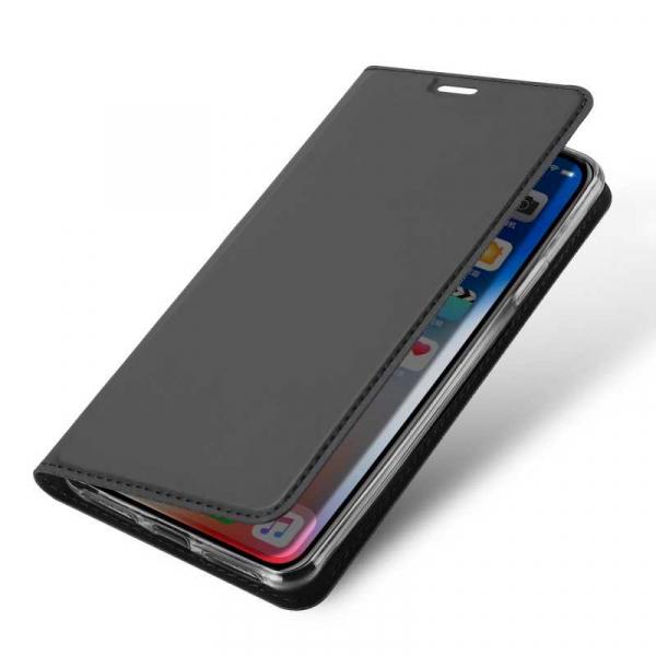 Husa iPhone Xs Max 2018 Toc Flip Tip Carte Portofel Negru Piele Eco Premium DuxDucis [3]