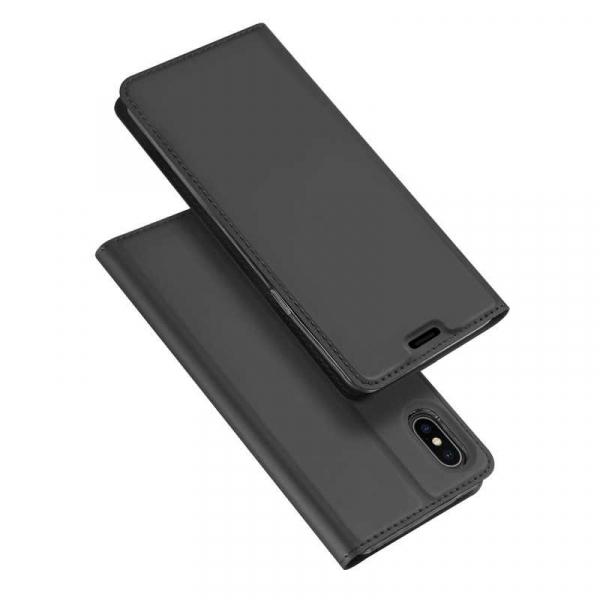 Husa iPhone Xs Max 2018 Toc Flip Tip Carte Portofel Negru Piele Eco Premium DuxDucis [4]