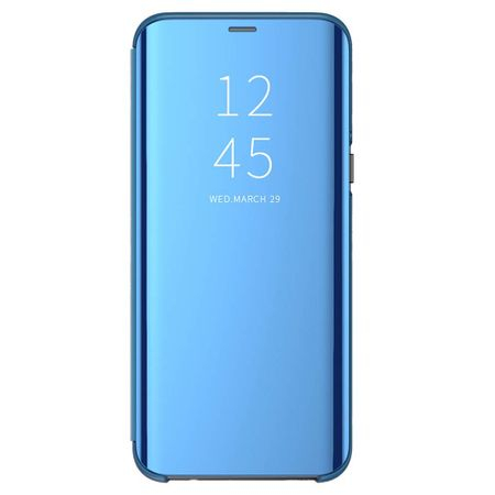 Husa iPhone Xs Max Clear View Flip Standing Cover (Oglinda) Albastru (Blue) 0