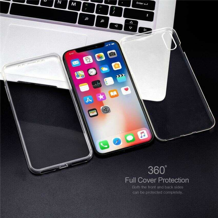 Husa iPhone Xs Max Full Cover 360 Grade Transparenta 1
