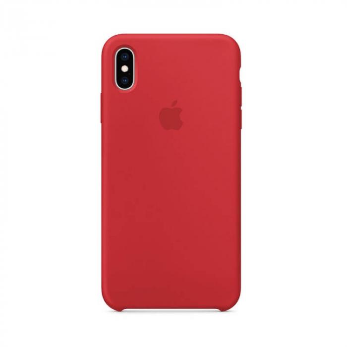 Husa iPhone XS Rosu Carcasa Silicon Premium Slim Logo 0