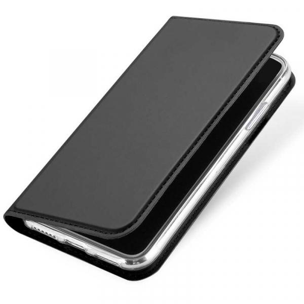 Husa iPhone XS Toc Flip Tip Carte Portofel Negru Piele Eco Premium DuxDucis [3]