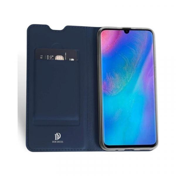 Husa Portofel Huawei P30 Lite 2019 Piele Eco Premium  DuxDucis - Bleumarin Dark Blue 3